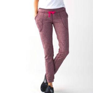 Lululemon Base Runner Pant III Pink Jogger Size 6